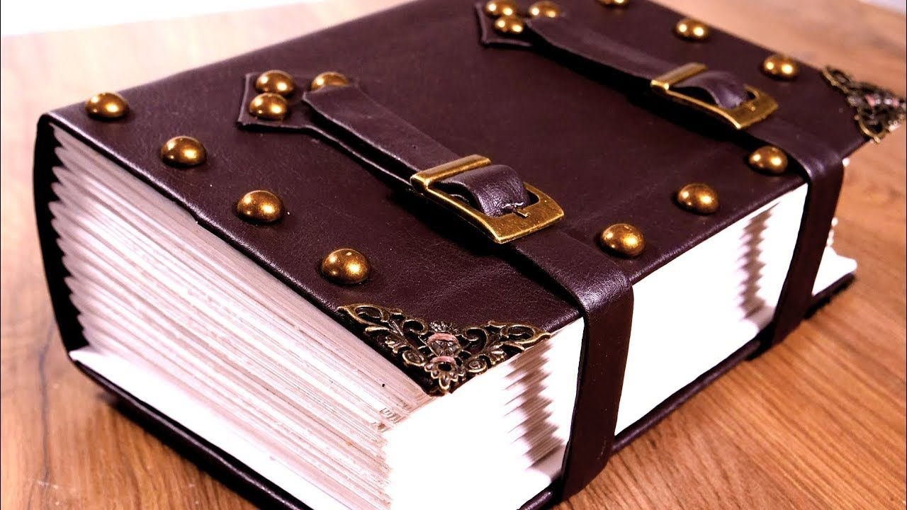 Make An Epic Giant Tome Bookbinding A Spellbook Journal Youtube Bookbinding Book Binding Diy Faux Leather Journal