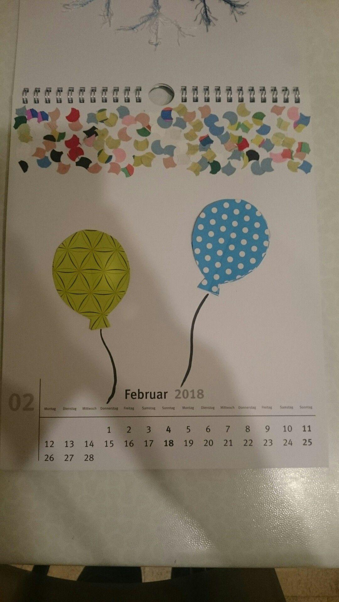 Bastelkalender Ideen.Bastel Kalender Februar Kalender Basteln Kalender