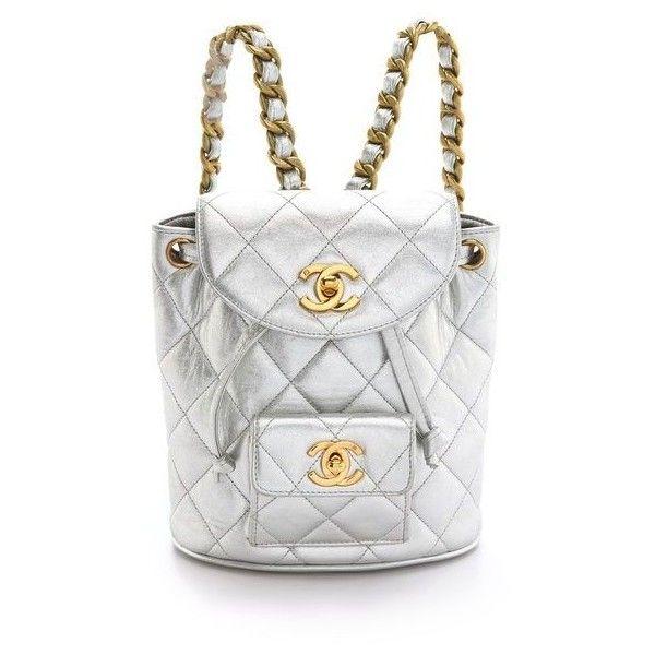 WGACA Vintage Vintage Chanel '90s Backpack ❤ liked on Polyvore featuring bags, backpacks, white backpack, white bag, knapsack bag, rucksack bag and day pack backpack