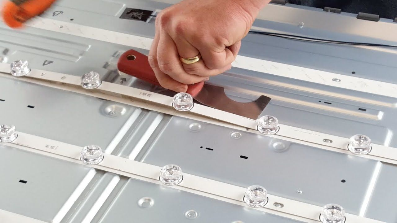 How to replace led strips in lg led tv 55lf 55lb nc55