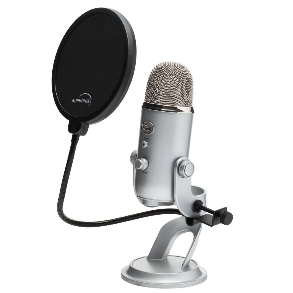 Premium 6-inch Pop Filter For Blue Yeti Microphone by Auphonix
