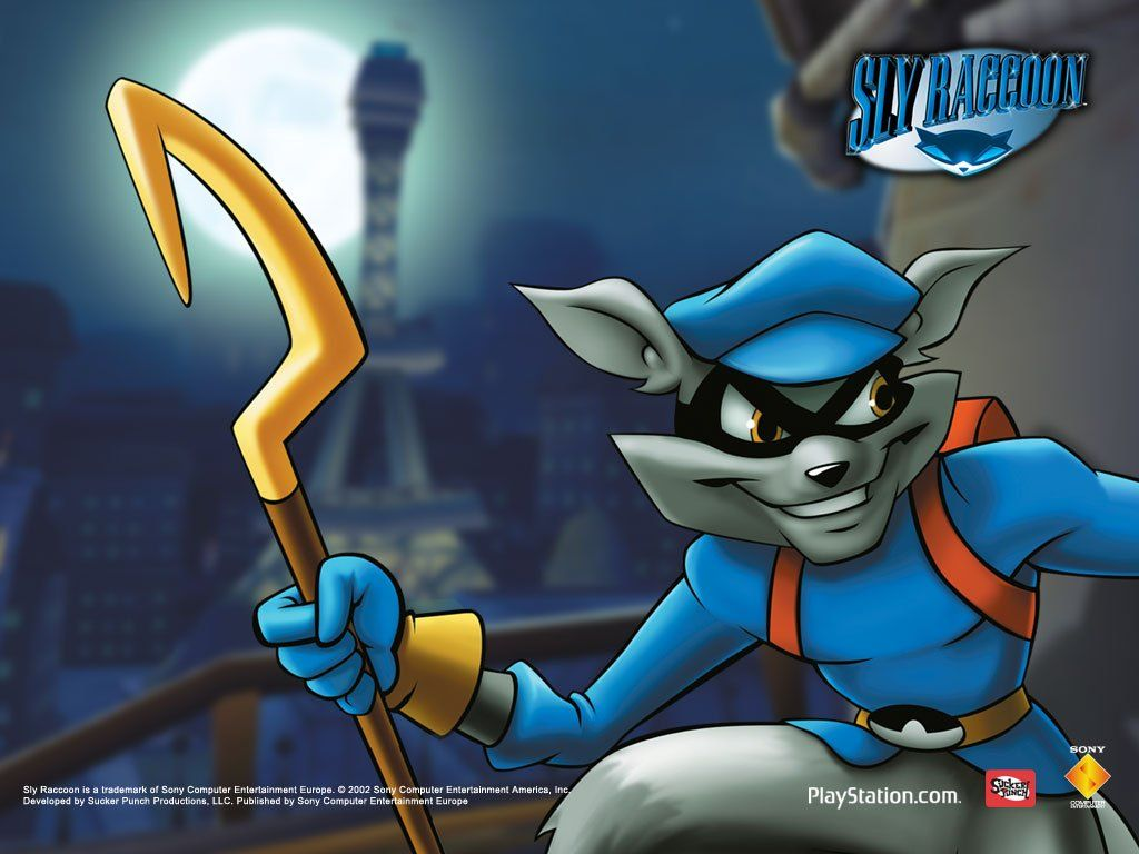 Wallpaper For The First Sly Cooper Game Sly Cooper And The Thievius Raccoonus Known Simply As Sly Raccoon In European Territories