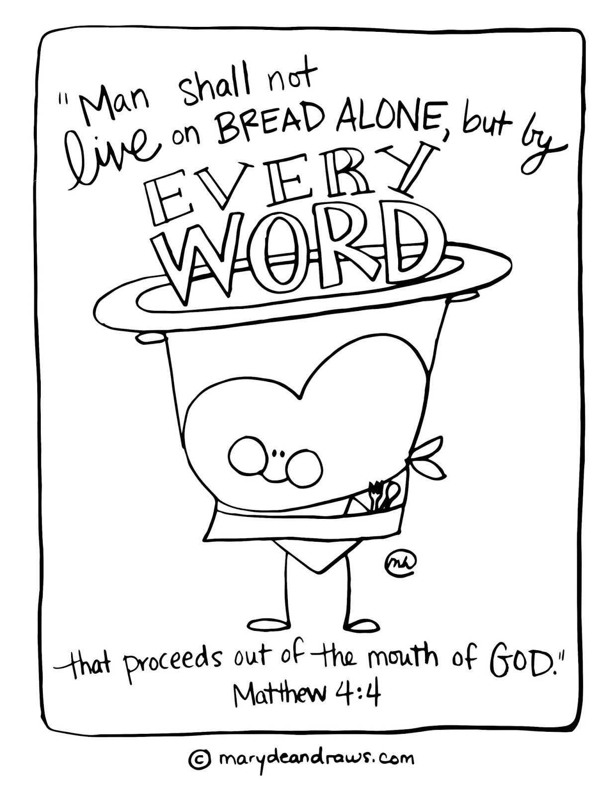 Matthew 4 4 Man Does Not Live On Bread Alone Printable