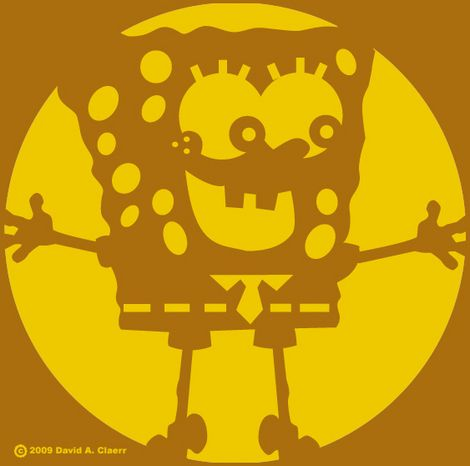 Spongebob Pumpkin Carving Stencils 10