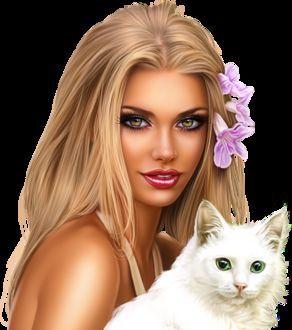 Красивые светловолосые девушки с цветами фото