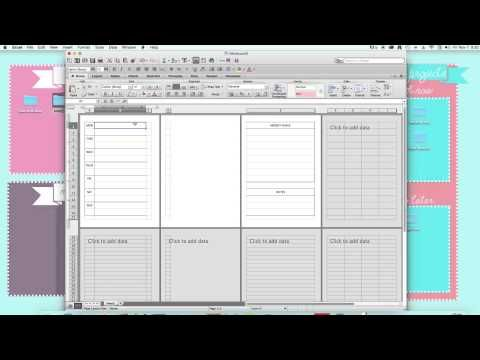 how to make a planner on microsoft word