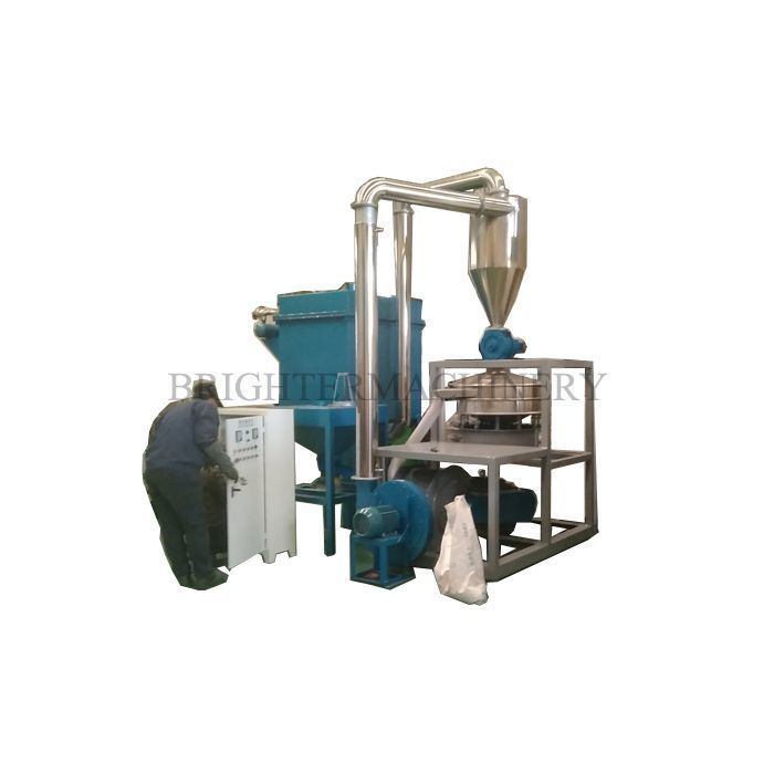 Pvc Grinder With Vibrating Sieve And Air Dust Collection System Zhangjiagang Plastic Grinding Machine For Makin Grinding Machine Grinder Dust Collection System