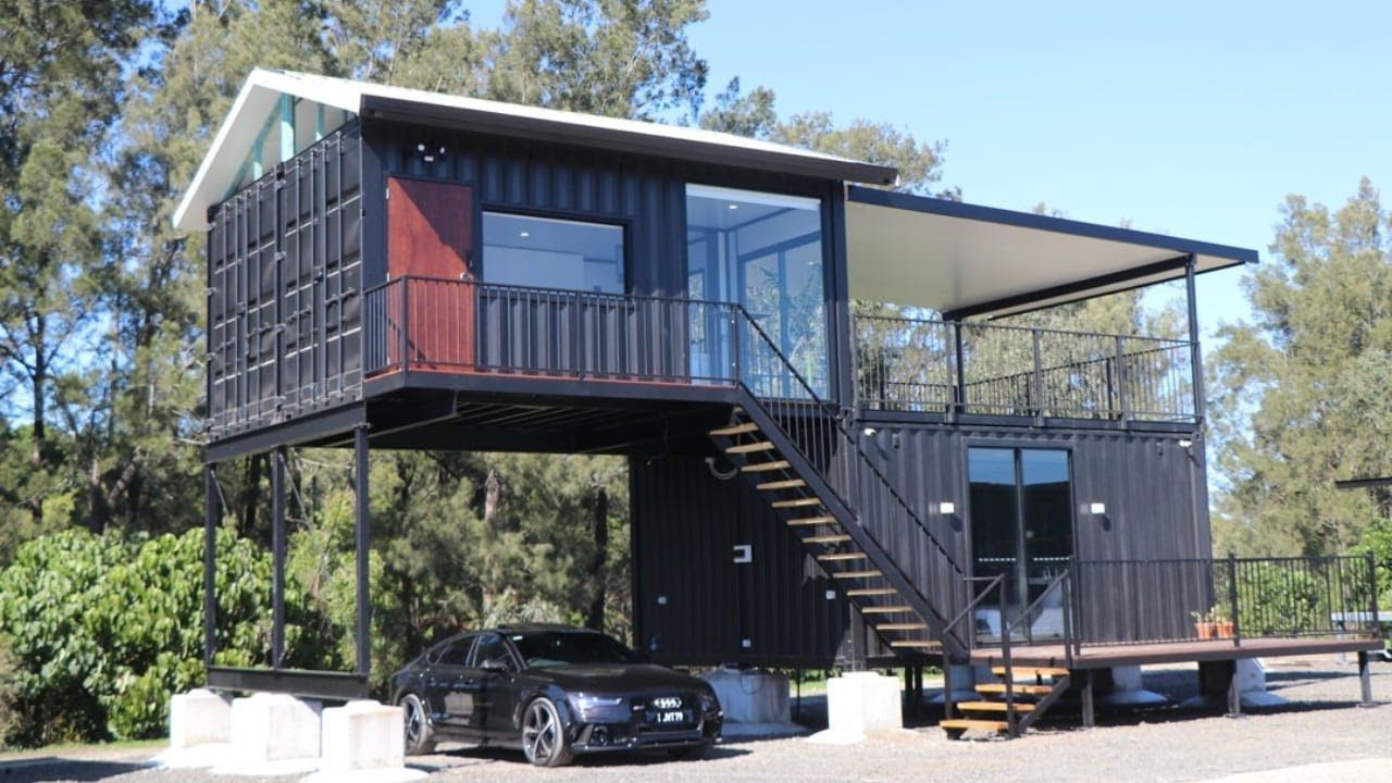 Luxury Home Using 4 X 20 Shipping Containers Container Homes Australia Container House Container Homes For Sale
