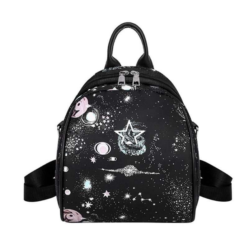 5fd25045ef81 Women Planet Star Print Backpack Fashion School Bag for Teenage Girls Female  Casual Leather Backpacks Portable Shoulder Bags Z70.