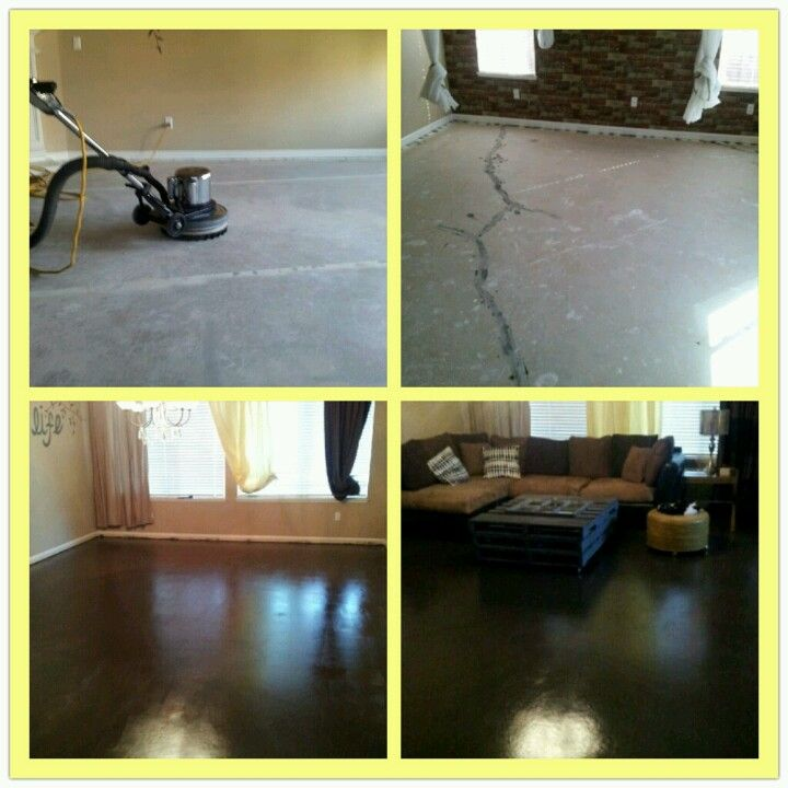 DIY Concrete Floors Painted And Sealed. Under $500 For