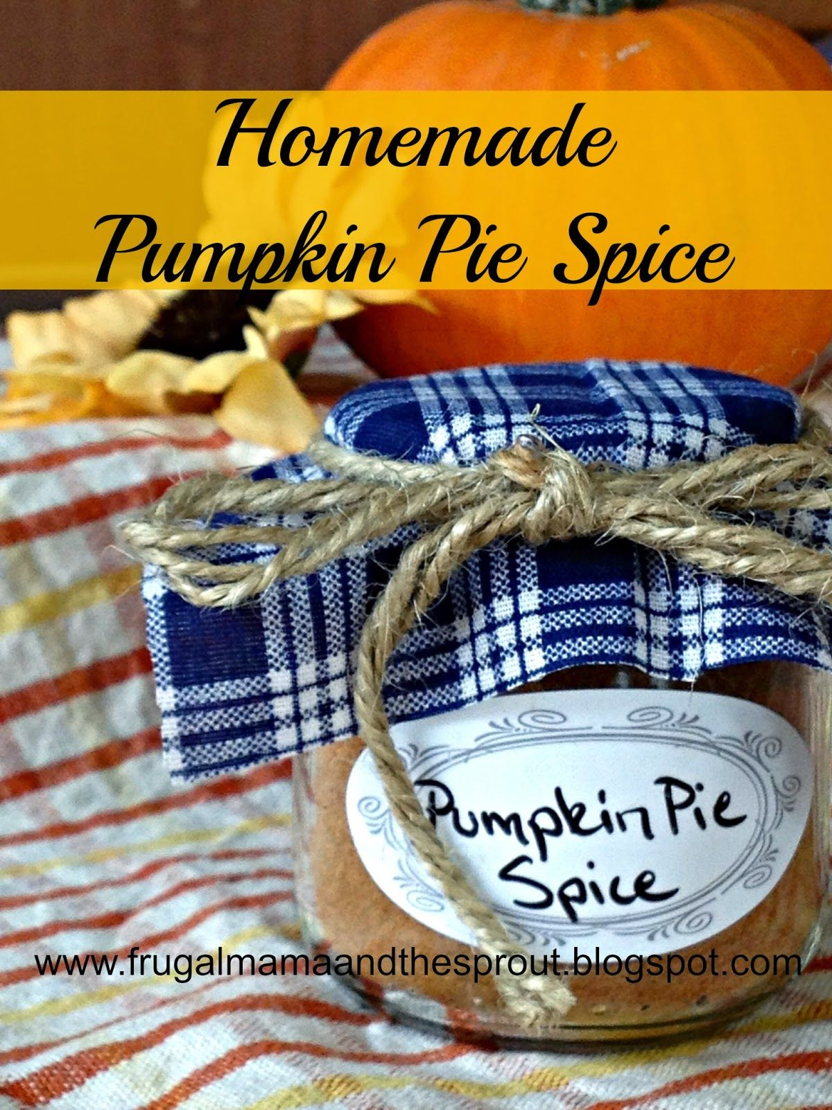 Frugal Mama & The Sprout: Homemade Pumpkin Pie Spice