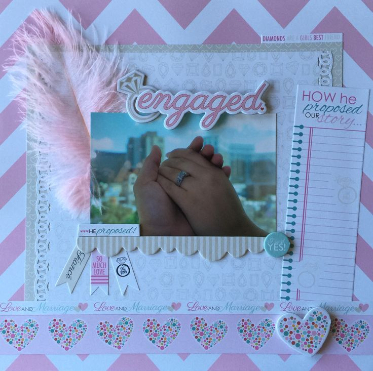 Image Result For Scrapbook Layouts For Engagement Scrapbook Pages