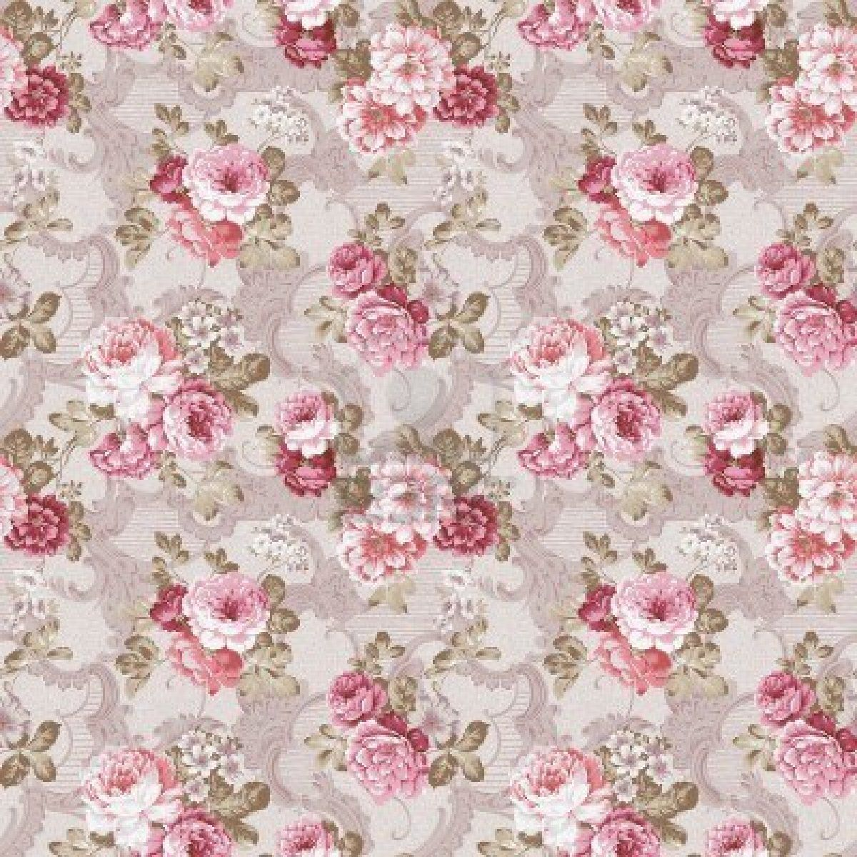 4ft X 4ft Shabby Chic Wallpaper Backdrop For Photography Shoots