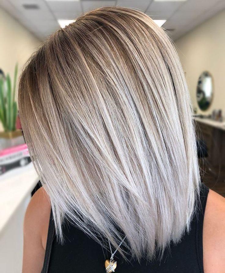 Google Balayage Frisur Schulterlange Haare Frisuren Haarschnitt