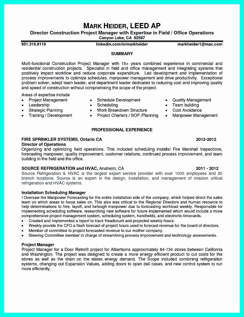 20 construction project coordinator resume manager