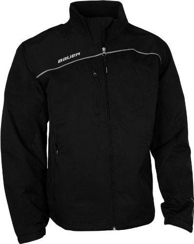 Amazon Com Bauer Lightweight Youth Hockey Warm Up Jacket Black X Small Clothing Jackets Street Sweatshirt