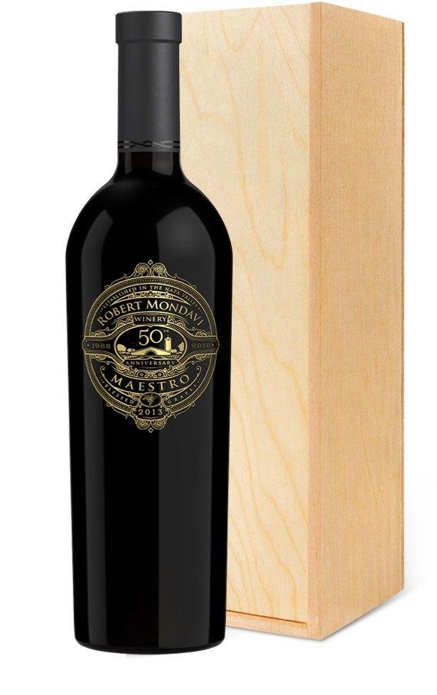 Mondavi Maestro Red 50th Anniversary 750ml | Wine Gift Napa Valley Wine, Wine Label Design