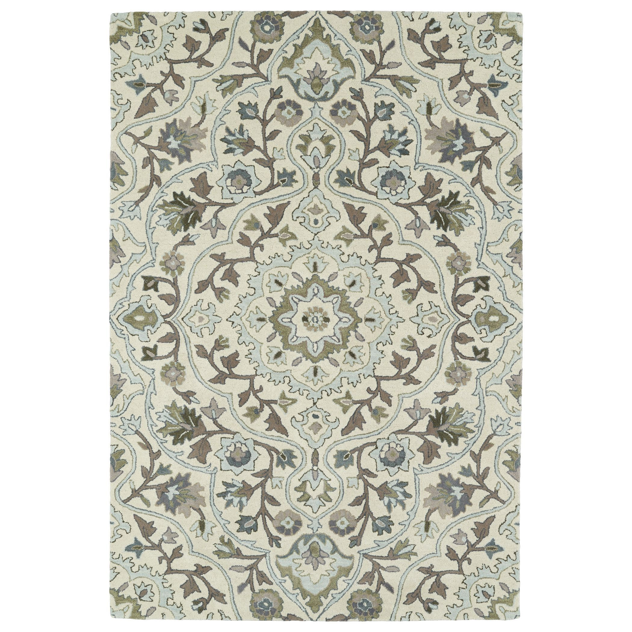 Kaleen Rugs Hand-Tufted Perry Medallion Beige Wool Rug (9'0 x 12'0) (9'0 x 12'0), Size 9' x 12'