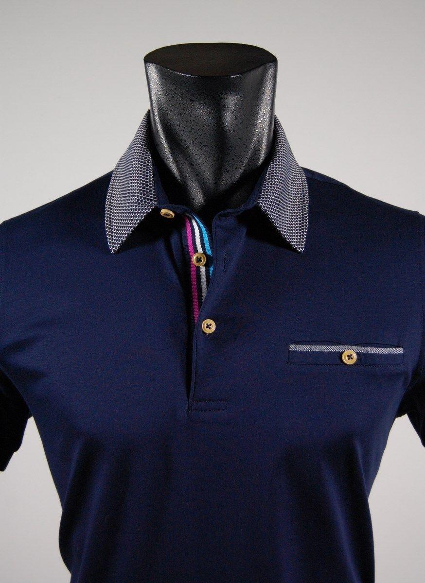 4d06ca21fc0df7 Slim fit short sleeve polo shirt collar bramante | Shirts