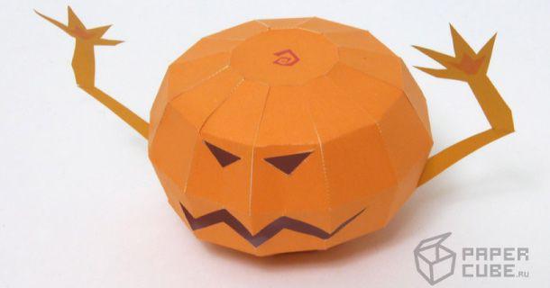 citrouille en papier (spécial halloween) | citrouille en papier