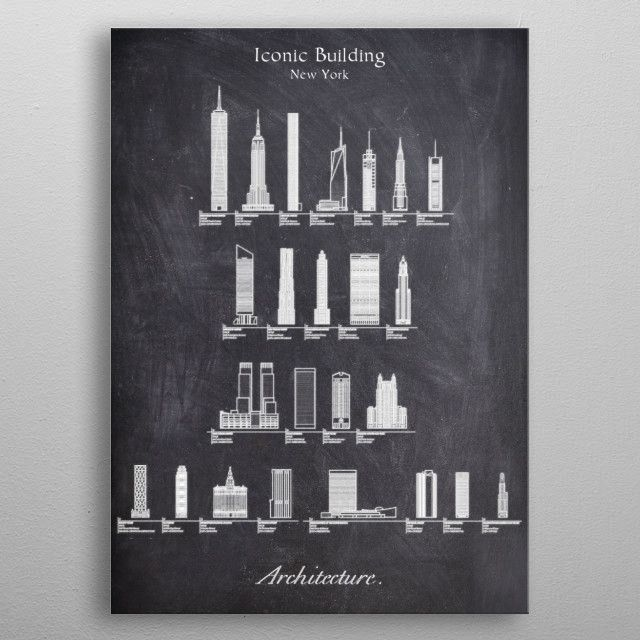 Iconic Building CHALK metal poster | Displate thumbnail