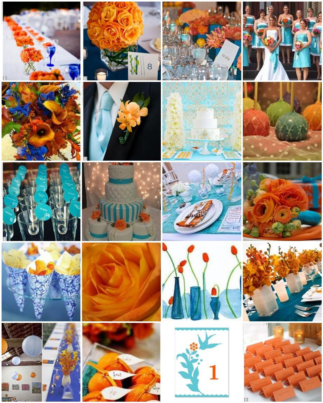Orange can be done very tastefully with either a light blue or a ...