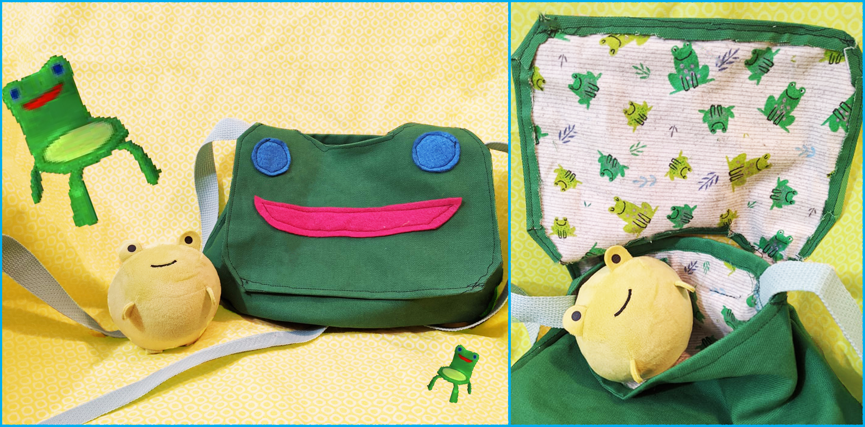 For My Second Sewing Project I Made An Animal Crossing Froggy