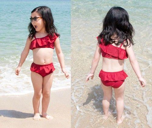20724effbaa7 Las niñas de trajes de baño traje de baño infantil 3 9 años de baño ...