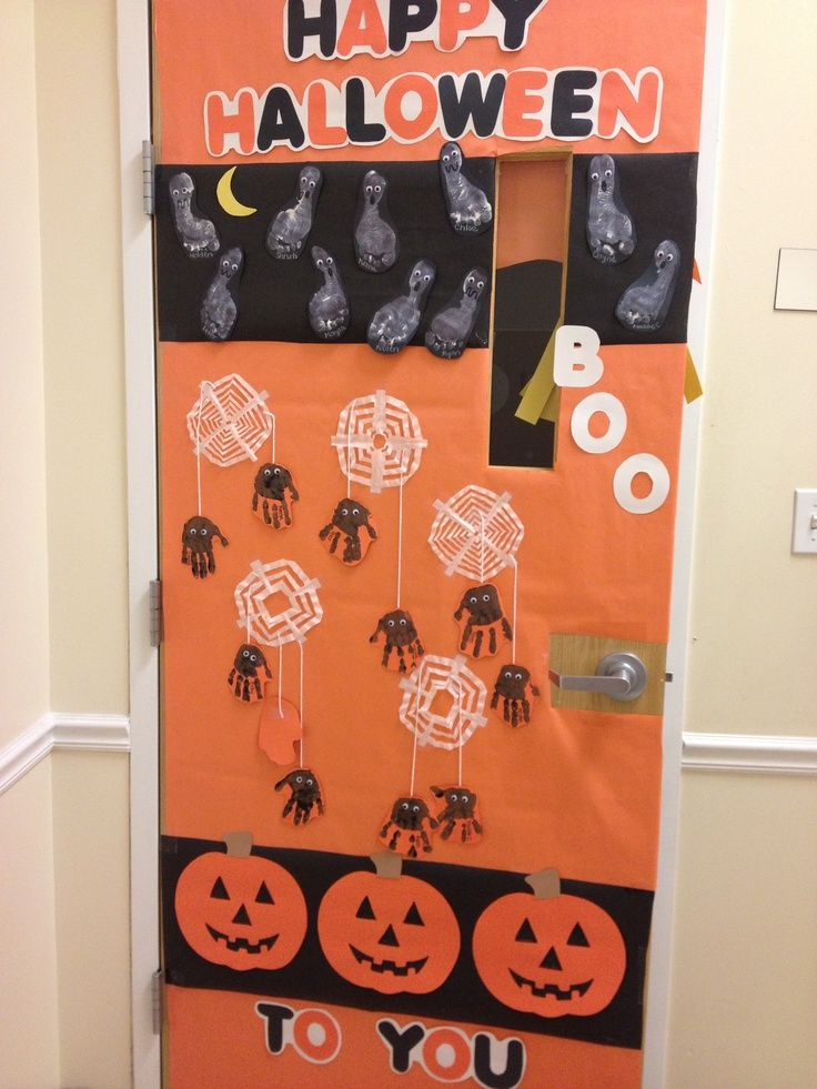 halloween door decoration idea & halloween door decoration idea | teach n preach | Pinterest ...