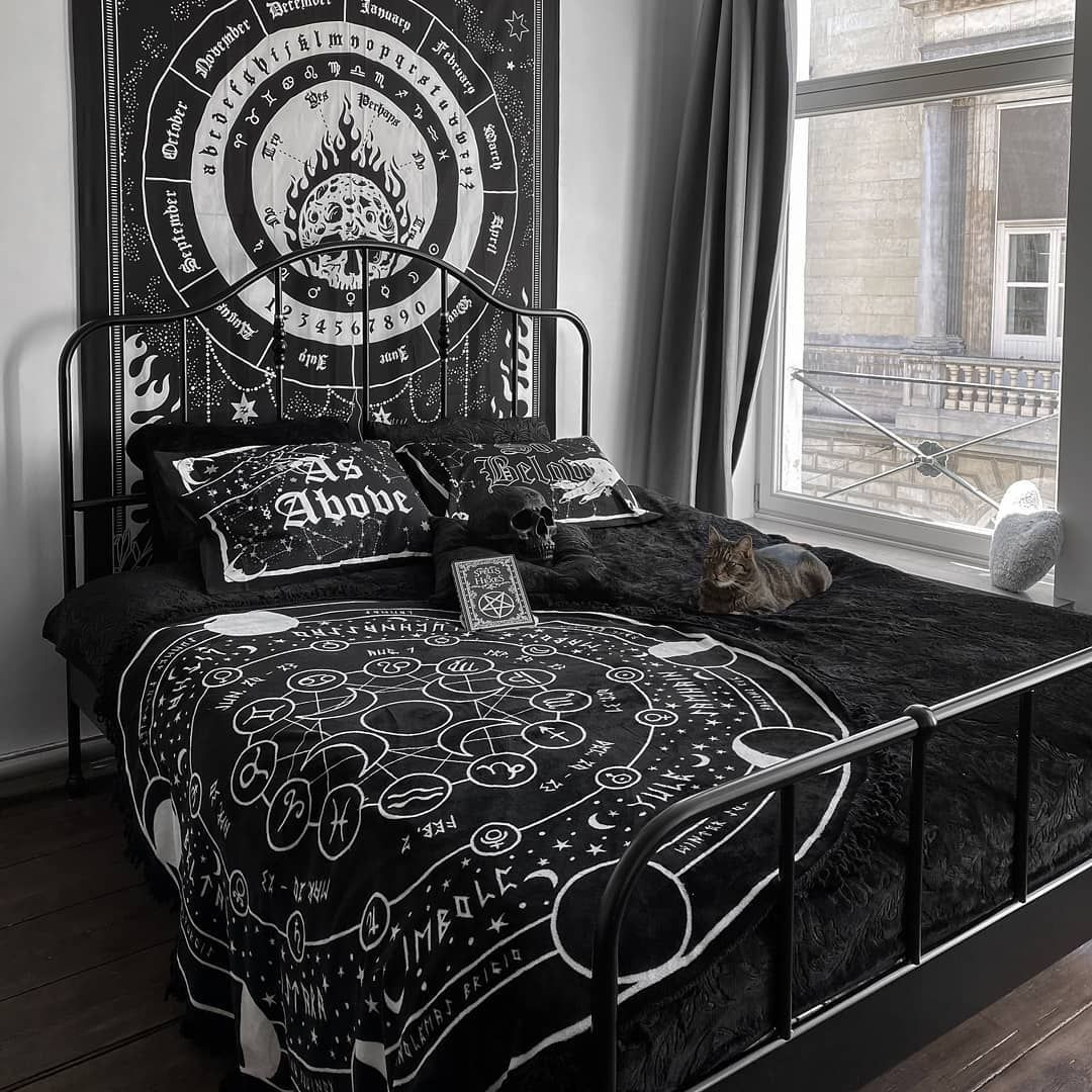 Killstar S Instagram Profile Post Looking To Give Yer Crypt Some Tlc Get 20 Off In Our Sitewide Sale Black Room Decor Room Ideas Bedroom Bedroom Decor