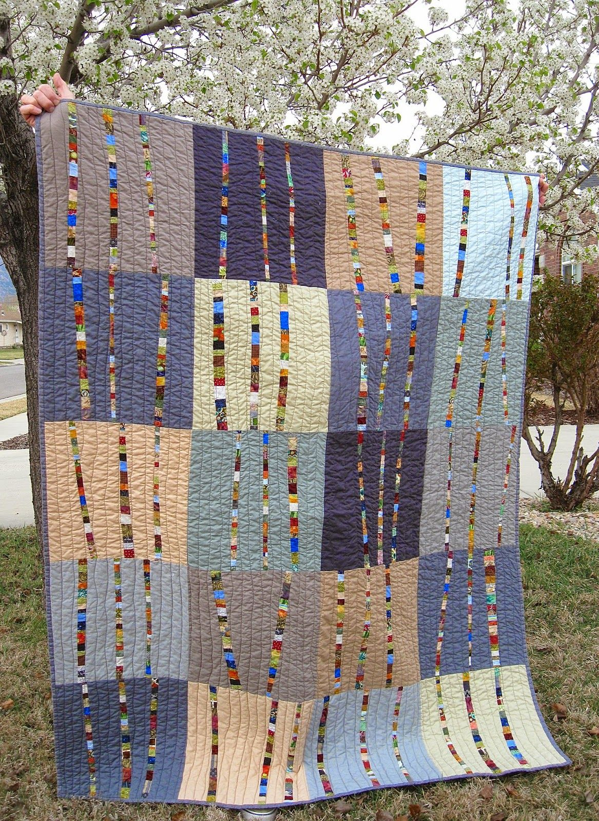 Happy Friday This Week I Finished The Birch Trees Quilt For My Grandson Easton He Picked Out The Pattern Bright Birch T Quilts Modern Quilts Quilt Patterns