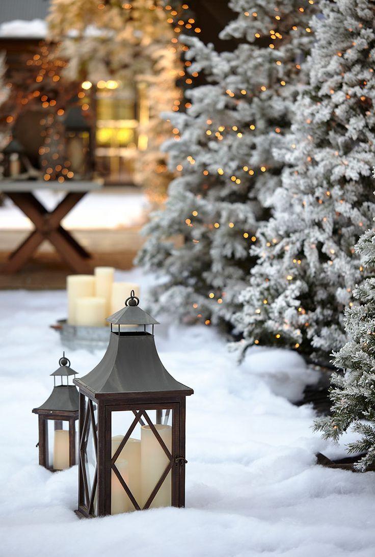 pin von wohnen garten auf drinnen winterdeko pinterest schnee weihnachten und laternen. Black Bedroom Furniture Sets. Home Design Ideas
