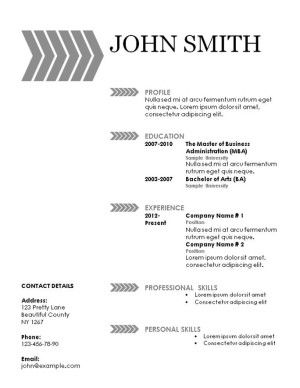 Resume Templates For Free 101 Free Printable Resume Templates That Can Be Edited In Word