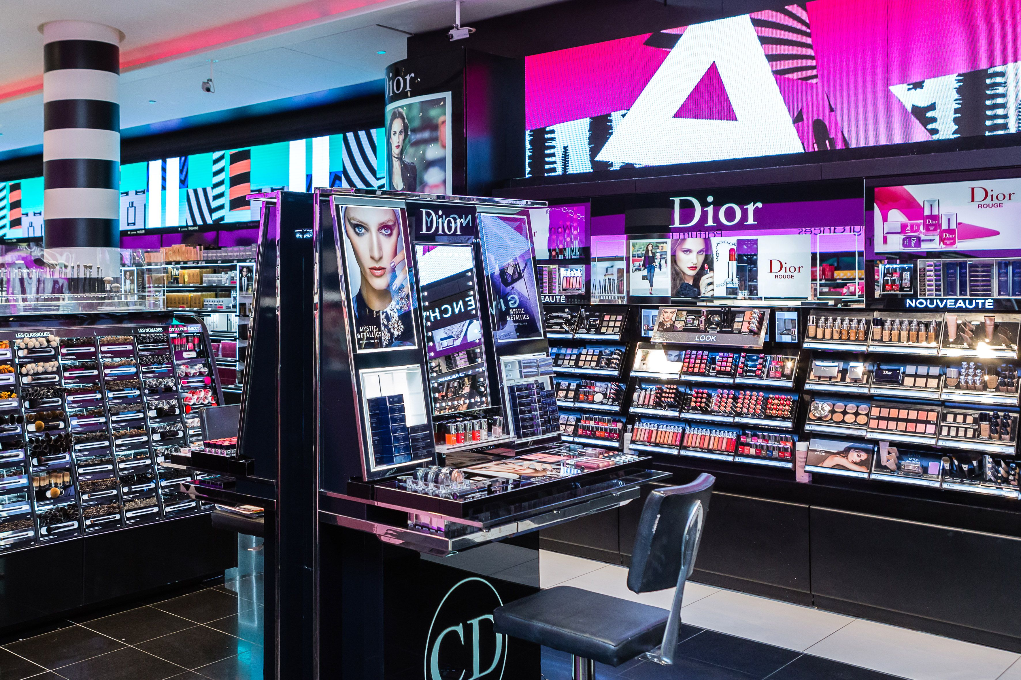 the makeup store