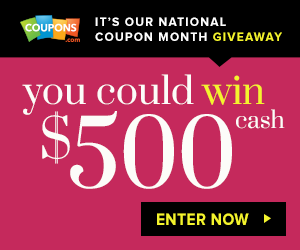 Coupons Com Enter To Win 500 10 Winners Enter Daily Money Saving Mom Money Saving Mom Coupons Printable Coupons