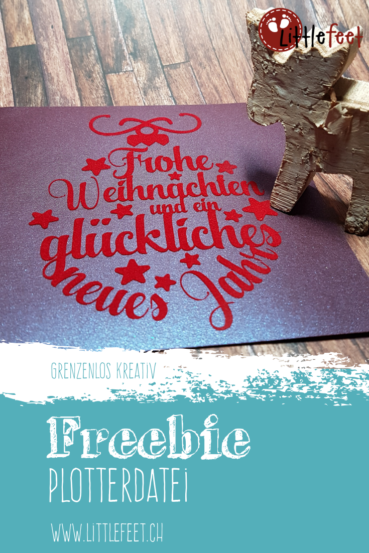 Plotter Freebie: Karte Christbaumkugel