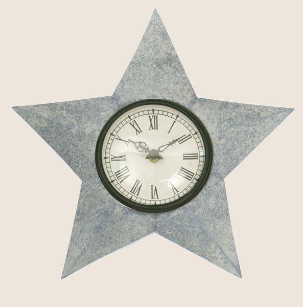 Star Shaped Home Decor Barn Roof Star Clock Clock Wall Clock Rustic Star