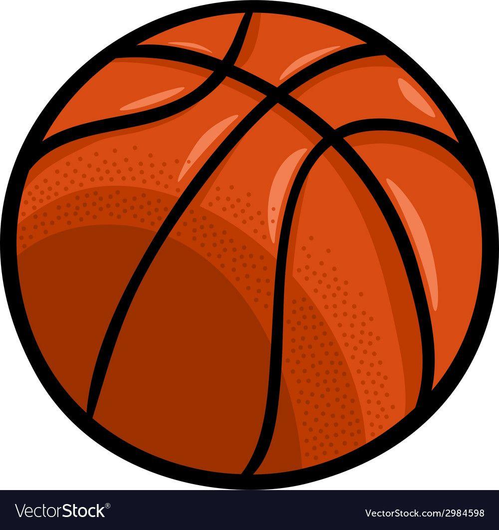 Basketball Ball Cartoon Clip Art Vector Image On Vectorstock Cartoon Clip Art Clip Art Basketball Ball