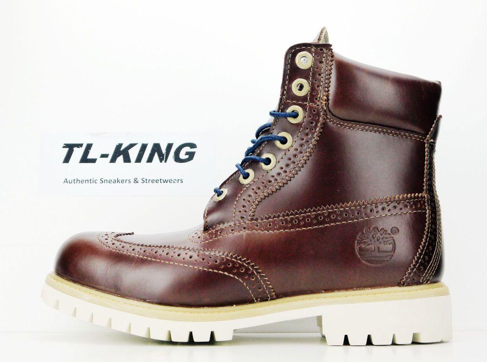 fd55fb1f220 Timberland 6 Inch Premium Brogue Wingtip Boot Chestnut Brown Boots ...