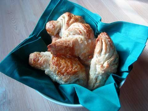 homemade croissants infused with blue cheese