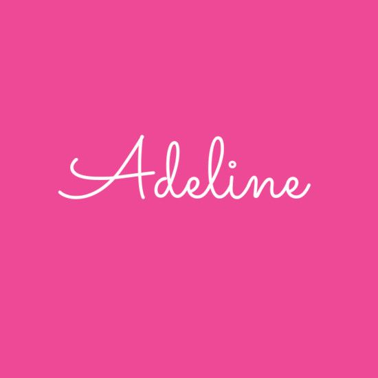 Adeline | Baby name generator, Baby names, Baby names 2018