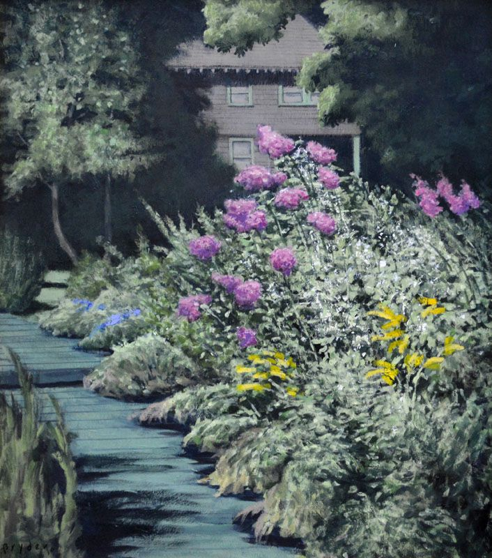 Awesome Garden Path, Original Oil On Canvas By Lewis Bryden | R. Michelson  Galleries