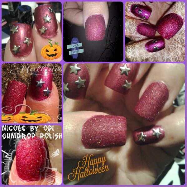 Here is what I used this week for my nails.  Nicole by OPI Gumdrop Polish in Cherry Amour, China Glaze Infra Red and some star studs...sorta simple this week...What do you think??  Hope you like.
