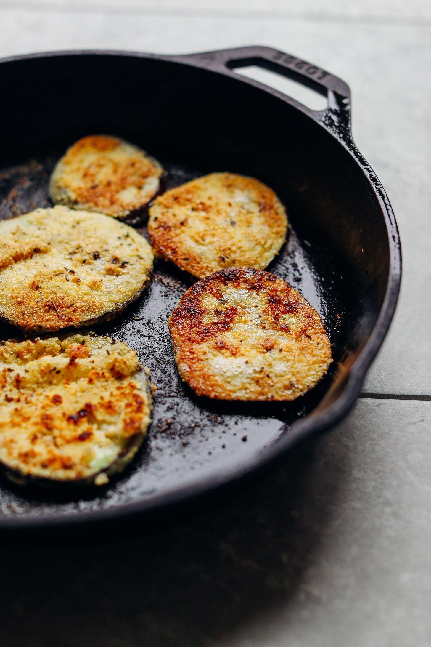 Vegan Gluten Free Eggplant Parmesan Minimalist Baker Recipes Recipe Recipes Eggplant Parmesan Eggplant Recipes