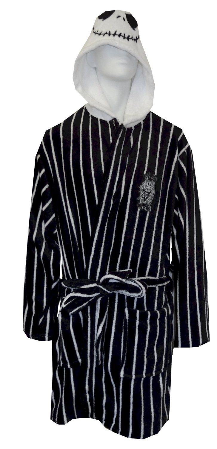 Amazon.com: Nightmare Before Christmas Jack Skellington Plush Robe ...
