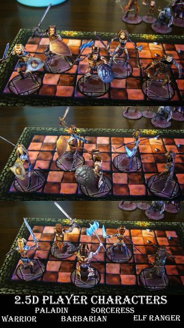 image regarding Printable Minis D&d named Myth Paper Miniature Patterns: 2.5d figures and NPCs