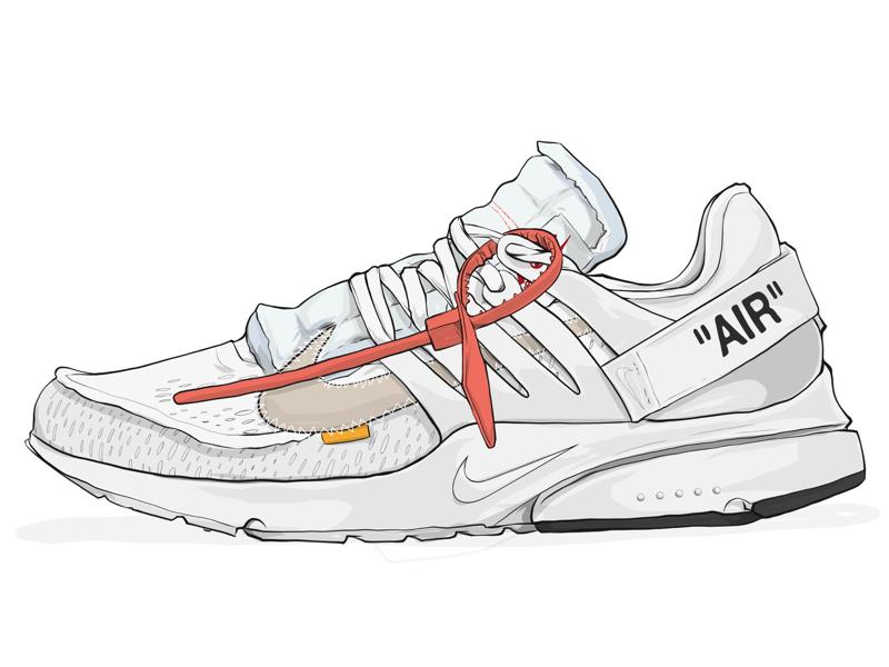 53b0f71832f Nike Off-White Presto Illustration by Robert Generette III