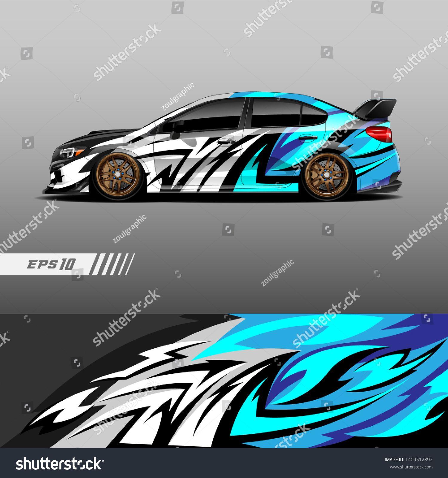 Car Decal Wrap Design Vector Graphic Stock Vector (Royalty Free) 1409512892