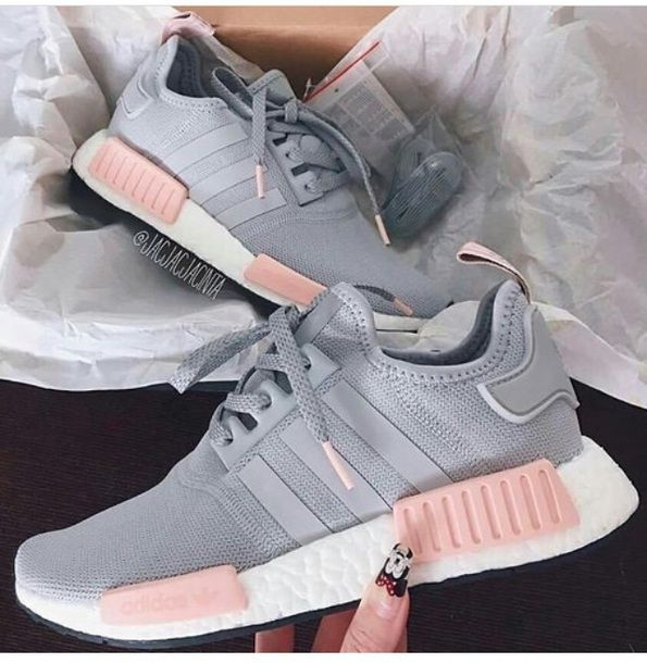 adidas nmd r1 womens grey pink