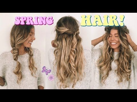 Super easy + cute hairstyles YouTube | Hairstyles | Pinterest